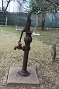 Image for Gano House Dempster Mill pump -- Dallas Heritage Village, Dallas TX
