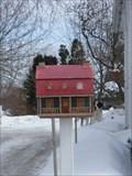 Image for La Maison verte et rouge pour courrier.  -St-Joseph-du-Lac.  -Québec