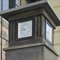 Image for Clock on the meteorological column - Masaryk railway station, Prague