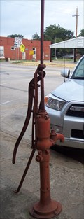 Image for Hand-Operated Pump at Dixie Cafe, Boswell, OK