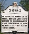 Conowingo historical marker