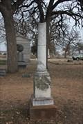Image for John F. Hodges -- Oakwood Cemetery, Fort Worth TX