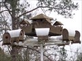 Image for Covered Wagons Around the Fort Birdhouse - Lawtey, FL