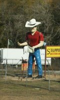 Image for Steppin' Out Cowboy Muffler Man -- Wynnewood OK
