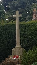 Image for Combined WWI / WWII memorial cross - Church View - Clifton, Derbyshire