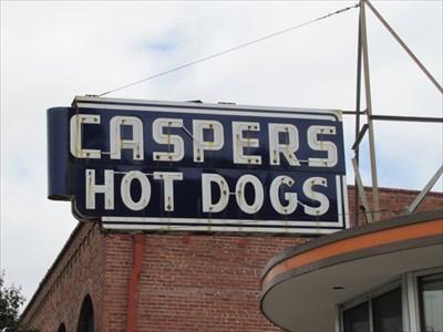 Caspers Hot Dogs Sign, Hayward, CA