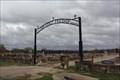 Image for Der Stadt Friedhof Cemetery Arch -- Fredericksburg TX