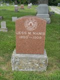 Image for Jess M. Manis - Sunset Hills Cemetery - Warrensburg, Mo.