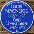 Image for Louis NacNeice - Canonbury Park South, London, UK