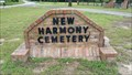 Image for New Harmony Cemetery - Tyler, Smith County, TX
