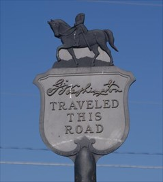 George Washington Traveled This Road historical marker in Havre de Grace, Harford County, Maryland