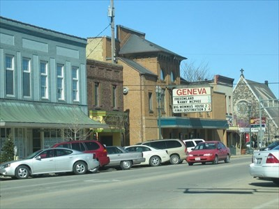 a small section of downtown