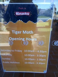 Close up of the Opening Hours. 1212, Friday, 1 June, 2018
