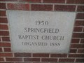 Image for 1950 - Springfield Baptist Church - Springfield SC