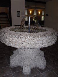 Fontaine intérieur situé au centre de l