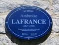 Image for Plaque d'Ambroise Lafrance - Québec, Québec