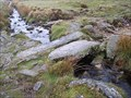 Image for Two Slab Granite Clapper Bridge, Devonport Leat, South Dartmoor, Devon UK