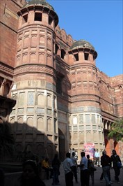 ...drum towers just inside the Amar Singh Gate.