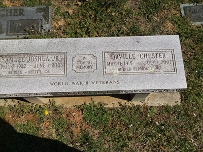 Orville and Samuel Schell dedicated bench, by MountainWoods