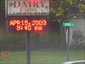 Image for Dairy Oasis Time and Temperature Sign, Kinsman, OH