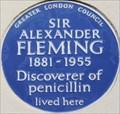 Image for Sir Alexander Fleming - Danvers Street, London, UK