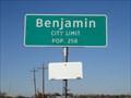 Image for Benjamin, TX