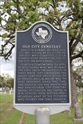 Image for FIRST -- President of the Ladies' Cemetery Association, Old City Cemetery, La Grange TX