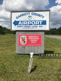 Airport sign's west face at the intersection of Airport Road and Bumble Bee Road