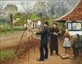 Image for L.A. Ring maler ved Aasum smedje by H.A. Brendekilde - Aasum, Denmark