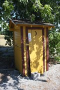 Image for MoPac RR depot outhouse -- Carona KS