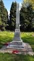 Image for Combined WWI / WWII memorial obelisk - St Nicholas - Baddesley Ensor, Warwickshire