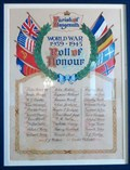 Image for World War 1939 :1945 - Roll of Honour - St Cennydd Church - Llangennith - Wales.