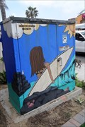 Image for P.B. Surfer Girl Utility Box - San Diego, CA
