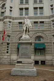 Franklin Statue at the Old Post Office