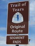 Image for Trail Of Tears - Original Route - Chattanooga, Tennessee, USA.