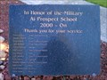 Image for Prospect School Military Appreciation Plaque - Prospect, OR