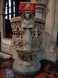 Image for Victorian Pulpit - St Peter's Church, Bournemouth, UK.