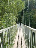 Image for Pedestrian Swing Bridge - Canford Magna, Wimborne, Dorset, UK