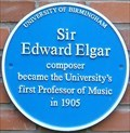 Image for Sir Edward Elgar - The University of Birmingham - Edgbaston, Birmingham, U.K.