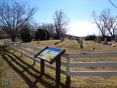 The Mosby and Sneden marker stand where there was an Episcopal church when they passed through in 1863. (The church was destroyed by a tornado in 1929, Only the cemetery remains.)