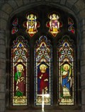 Image for Stained Glass, St Oswald's Church, Arncliffe, N Yorks, UK