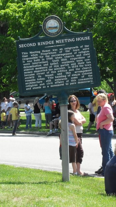 Historical Marker - The Second Rindge Meeting House.