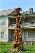 Image for Indian Eagle and Wolf Carving - Charlemont MA