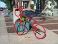 Image for Saline Downtown Bike shaped Bike rack - Michigan