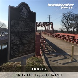 The Texas Historical Marker refers to this bridge as the Elm Fork Bridge.