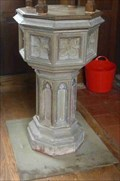 Image for Stone Font, St Michael, Upton Warren, Worcestershire, England