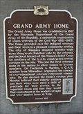 Image for Grand Army Home Historical Marker