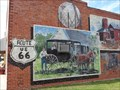 Image for Historic Route 66 Mural - Davenport, Oklahoma, USA.