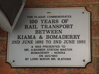 Close up of the Community Commemoration plaque.Up, above the platform entry of the Train Station.1147, Sunday, 1 October, 2017