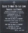 Image for Plaque de l'église de Saint-Marc-du-Lac-Long - Saint-Marc-du-Lac-Long, Québec